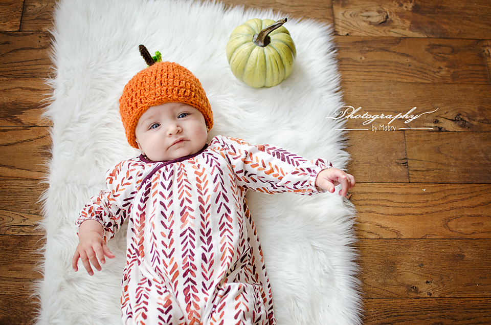 Stella Flores {baby's first fall}